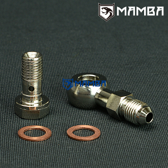 Banjo Bolt Kit 4AN to M10x1.25 TD04 Oil-Cooled 1.8mm restrictor