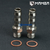 "Turbo water barb fitting M14x1.5 to 1/2"" Barb TD05H GT28R -2 Set"