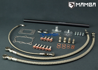 Turbo Oil & Water Line Kit Nissan RB30 VL w/ Garrett T3 16mm