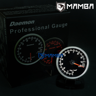 MAMBA 60mm Electronic LED Performance Turbo Oil Pressure Gauge