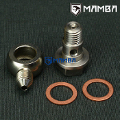Oil Feed banjo bolt kit 4AN to M12x1.75 w/ 2mm restrictor
