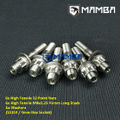 Turbo Turbine Housing Exhaust Manifold Stud 35mm M8x1.25 (6 sets