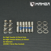 Turbo Turbine Housing Exhaust Manifold Stud Kit 45mm M10x1.25
