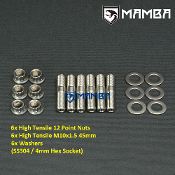 Dump Pipe Stud Kit 45mm M10x1.5 SS304 Garrett GT42 TA45 (6 sets)