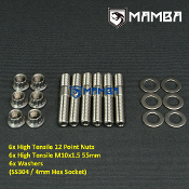 Turbine Housing Exhaust Manifold Stud Kit 55mm M10x1.5 SS304