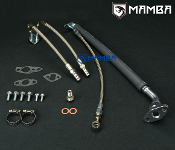 Oil & Water Line Kit For 86~92 TOYOTA MA70 7M-GTE Supra w/ CT26