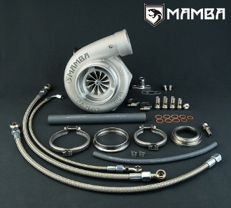 "Turbo Nissan RB25DET 4"" Twisted AS GT3584R .86 V-Band In/Out"