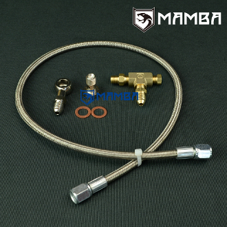 Turbo Oil Feed Line Kit M12x1 25 To Turbo w/ 1 5mm Restrictor