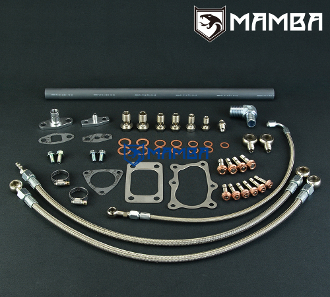 18mm water hole Details about  /Turbo Oil /& Water Line Kit for Nissan RB30 w// stock RB25DET
