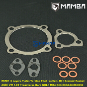 SS301 Turbo Turbine Oil Water Gasket AUDI VW1.8T Golf IV K03-035